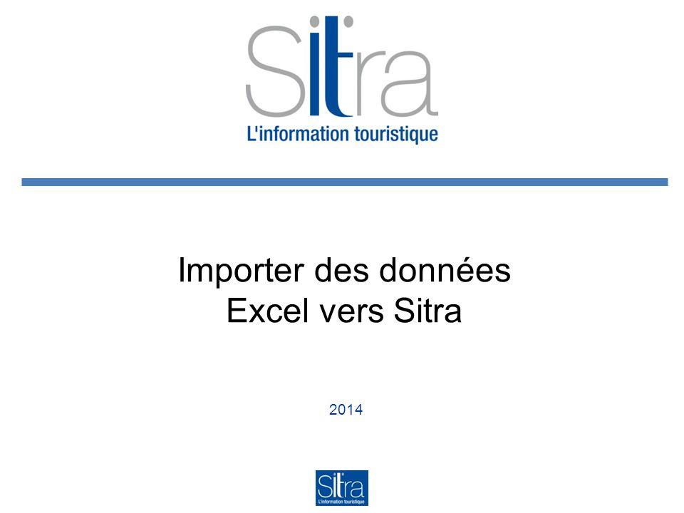 2014 Importer des données Excel vers Sitra