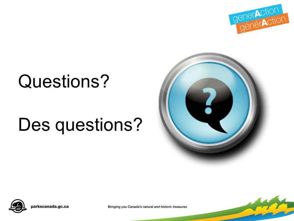 Questions Des questions