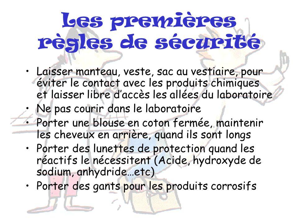 Plan Les premières règles de sécurité La sécurité en manipulant Attention produits inflammables Élimination des déchets Les renseignements des étiquet