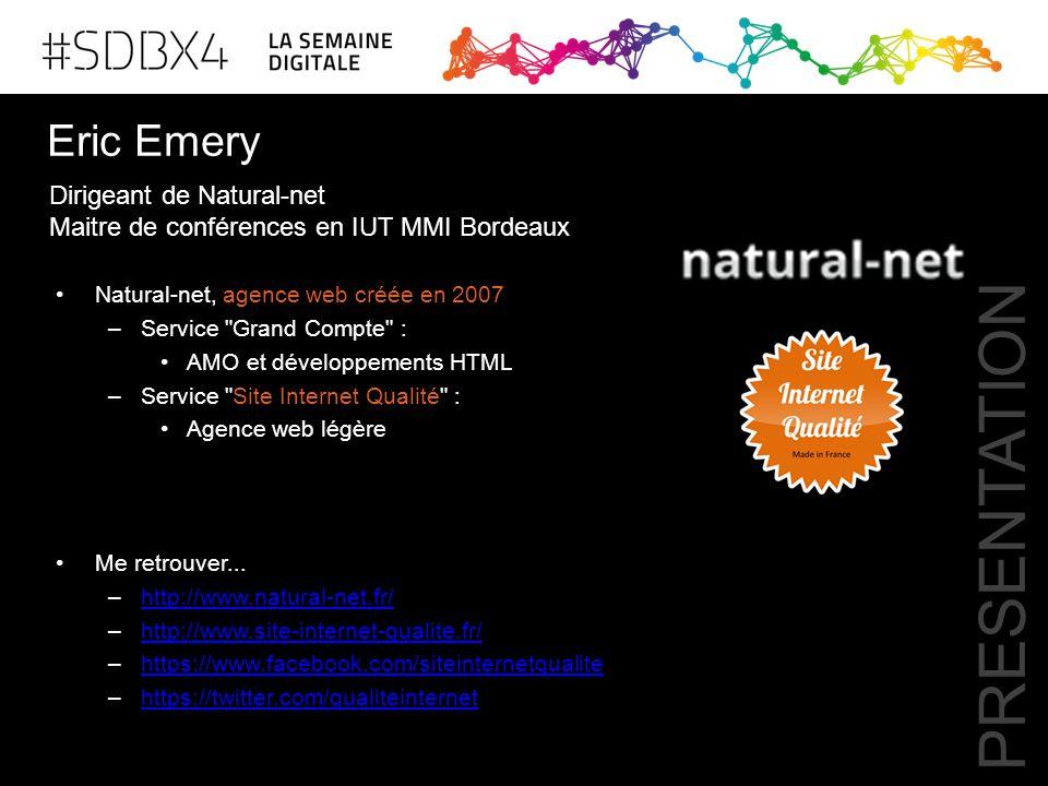 Eric Emery Natural-net, agence web créée en 2007 –Service