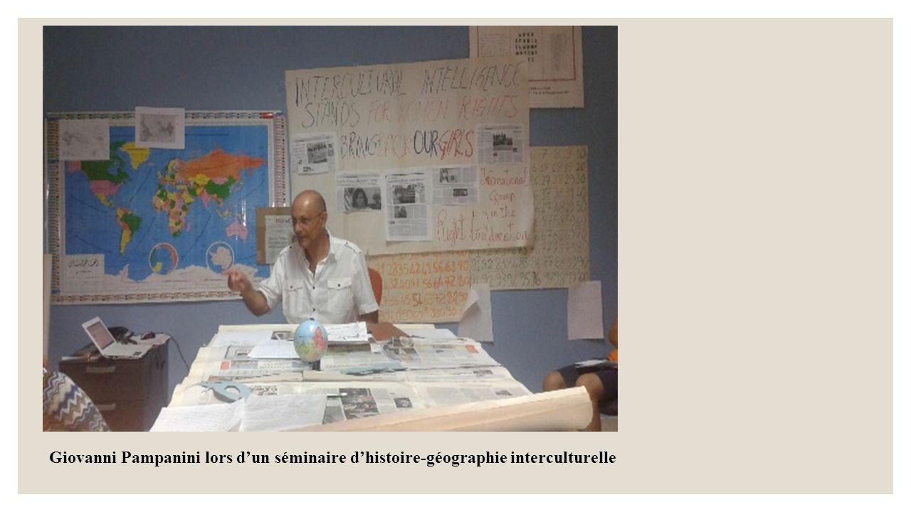 Giovanni Pampanini lors d'un séminaire d'histoire-géographie interculturelle