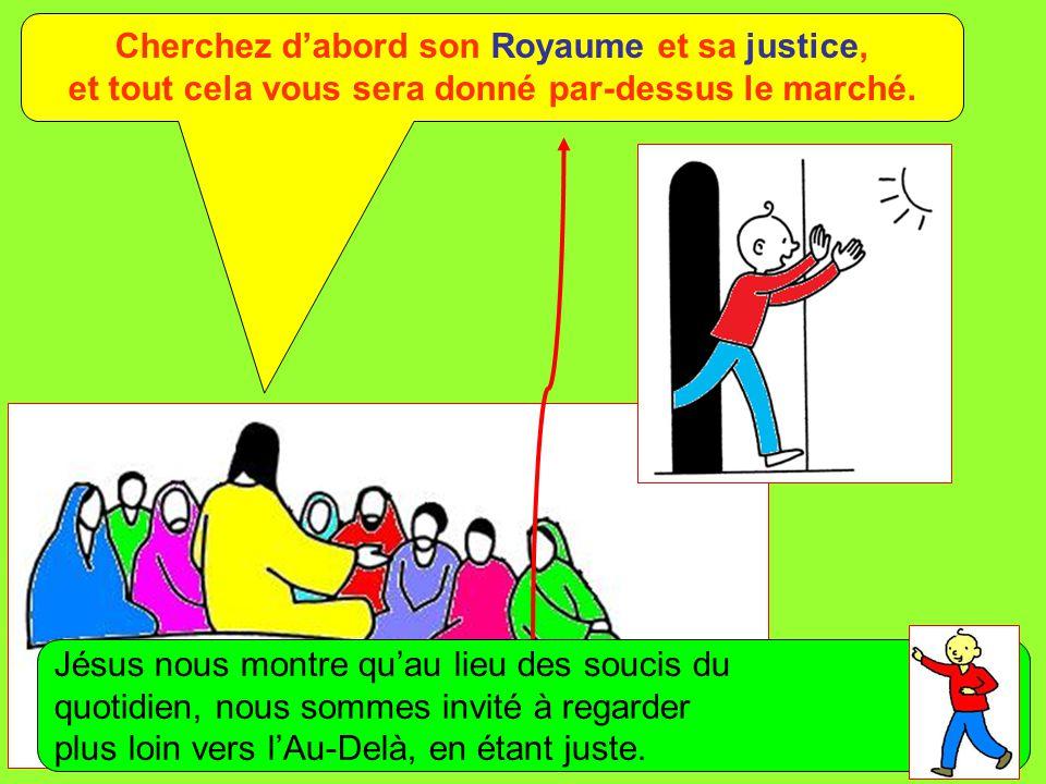 Extrait de « Mille images d'Évangile » de Jean François KIEFFER (Presse d'Île de France) Cherchez d'abord son Royaume et sa justice, et tout cela vous