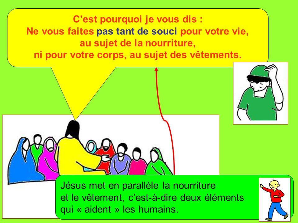 Extrait de « Mille images d'Évangile » de Jean François KIEFFER (Presse d'Île de France) La vie ne vaut-elle pas plus que la nourriture, et le corps plus que le vêtement .