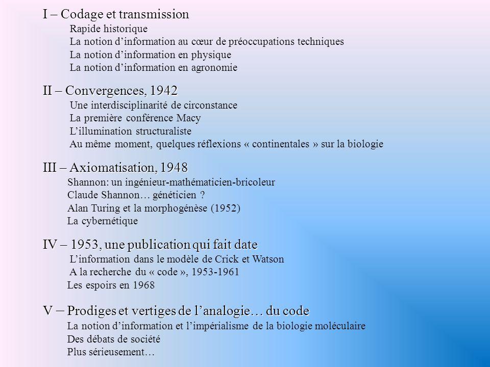 Code ou tableau de correspondances .4.3 1961 Marshall W.
