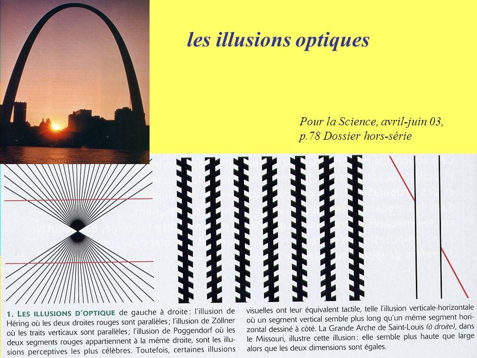 Pour la Science, avril-juin 03, p.78 Dossier hors-série les illusions optiques