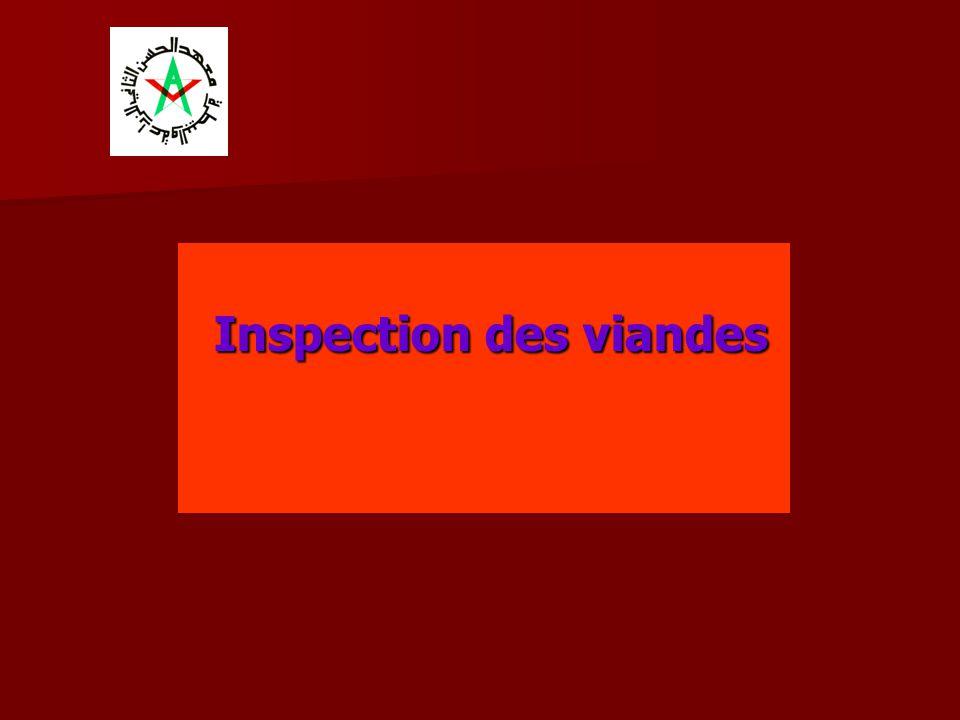 Inspection des viandes Inspection des viandes