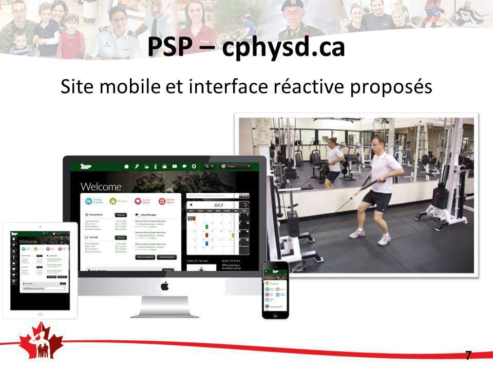 PSP – cphysd.ca Site mobile et interface réactive proposés 7