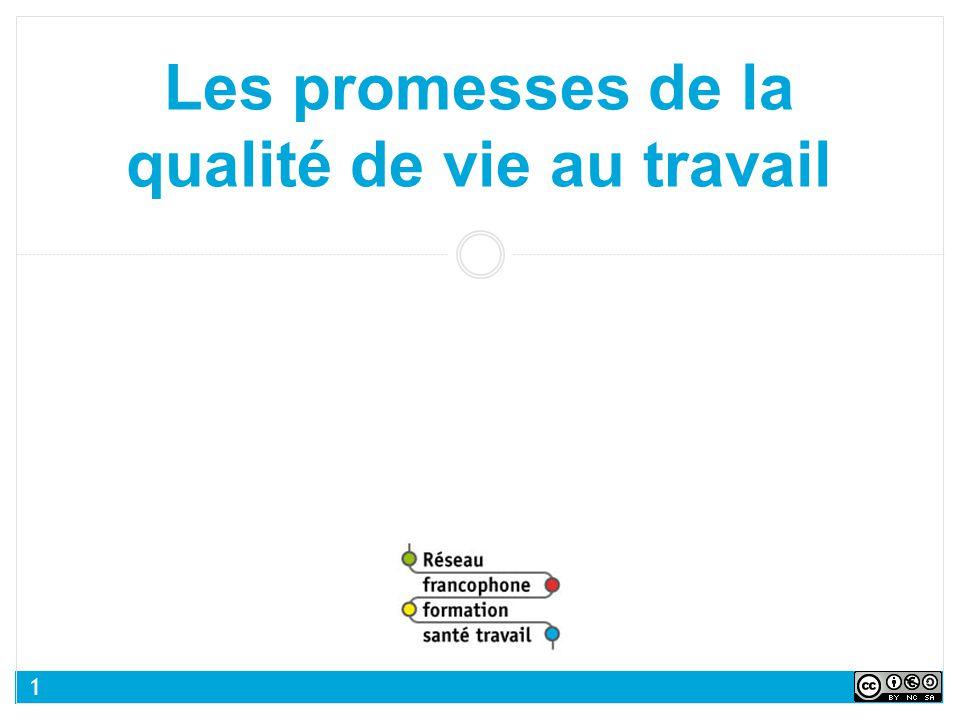 Les promesses de la qualité de vie au travail 1