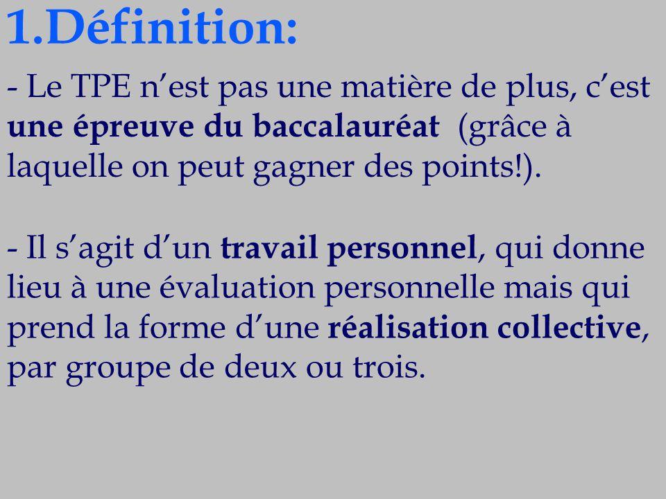 6.L'évaluation : les critères du suivi du TPE - La recherche documentaire.
