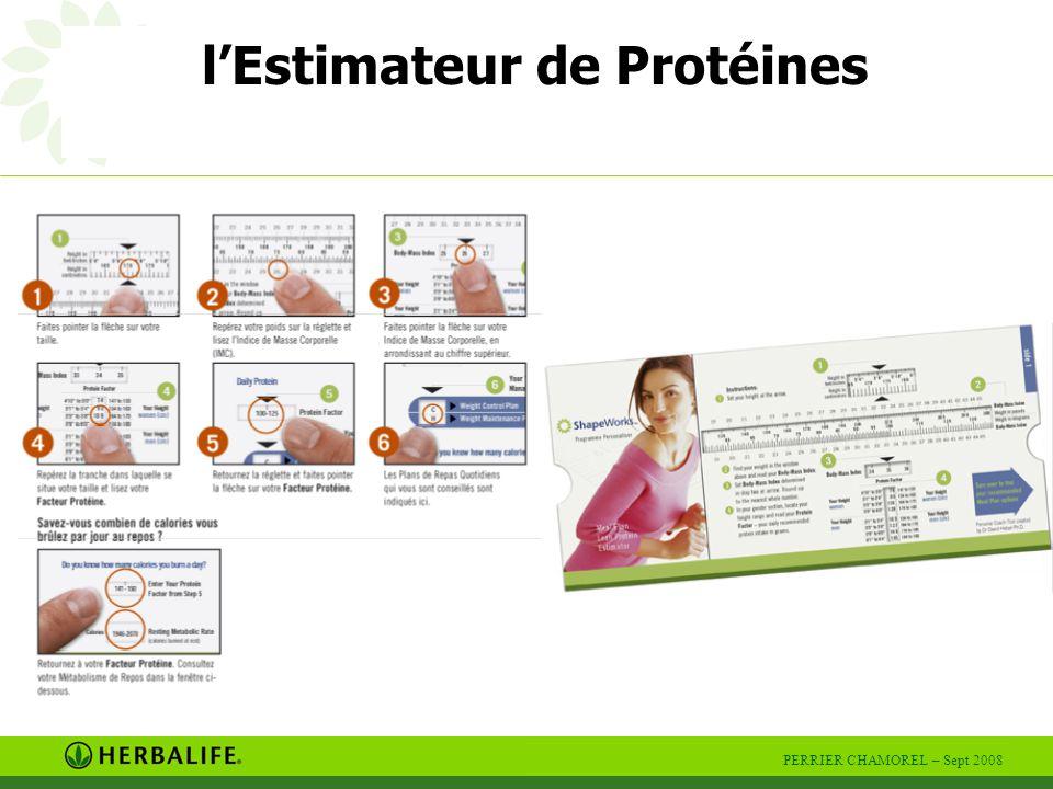 PERRIER CHAMOREL – Sept 2008 B Book de présentation rochures produits R Règlette C Centimètre arnet de factures A Agenda D Des produits L Livret personnel