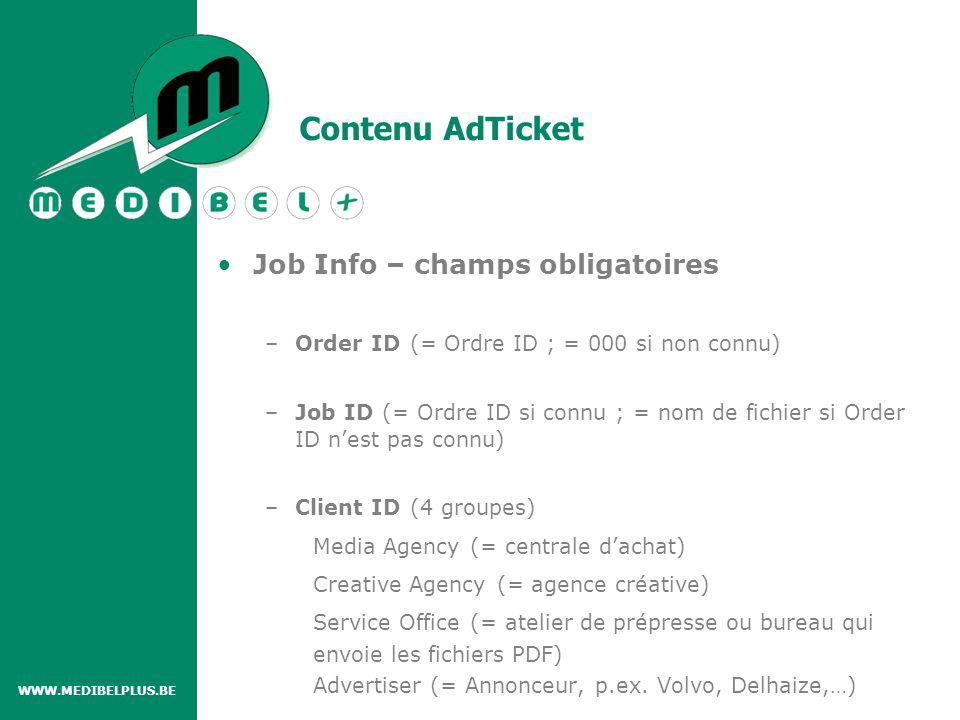 Contenu AdTicket –First publication date (= première date de publication) –Title / Publication (= Publication : ex.