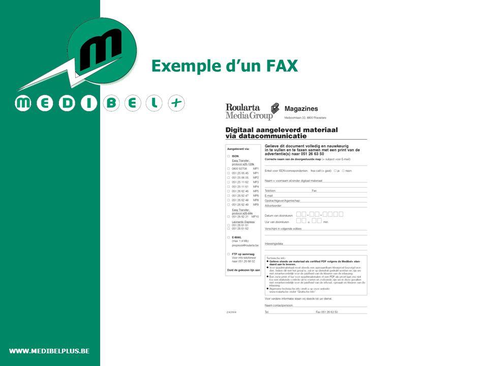 Exemple d'un FAX WWW.MEDIBELPLUS.BE