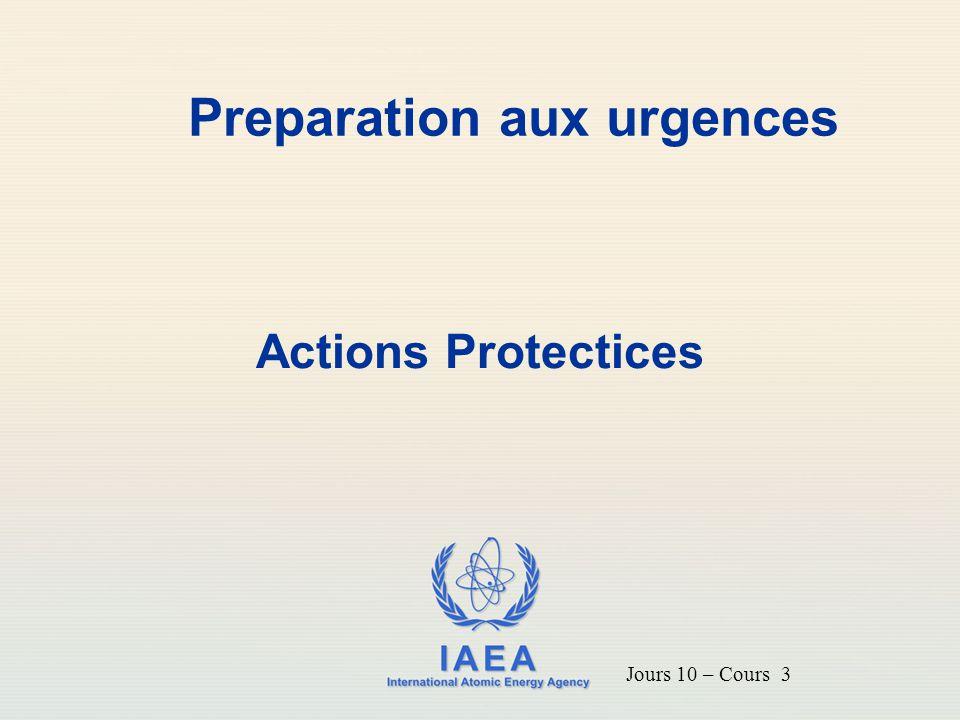 IAEA 2 Introduction Pour intervenir correctement lors d'une situation d'urgence, des critères d'action prédéfinis doivent être disponibles Ce cours traite des critères de base convenus au plan international pour l'intervention