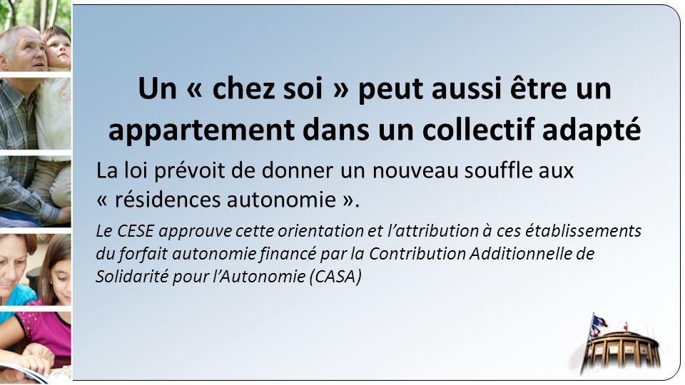 Un « chez soi » peut aussi être un appartement dans un collectif adapté La loi prévoit de donner un nouveau souffle aux « résidences autonomie ».