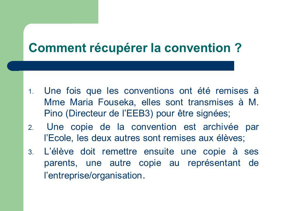 Comment récupérer la convention .1.