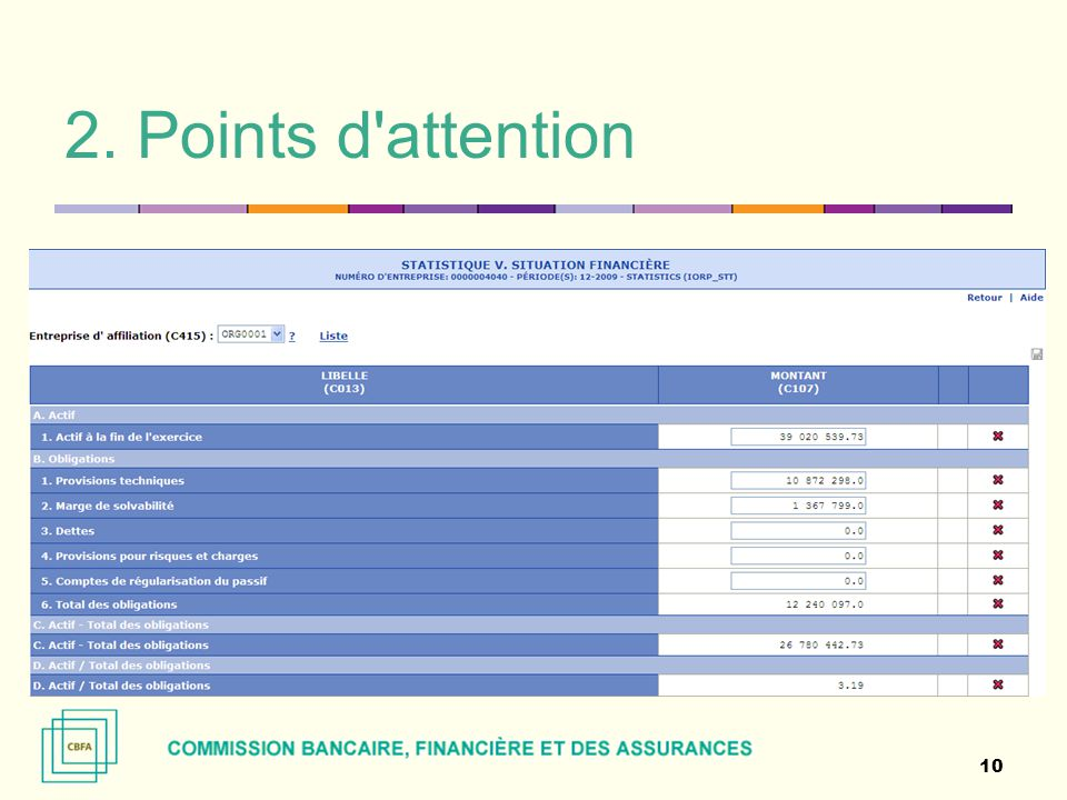 2. Points d'attention 10