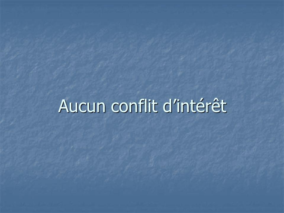 Aucun conflit d'intérêt