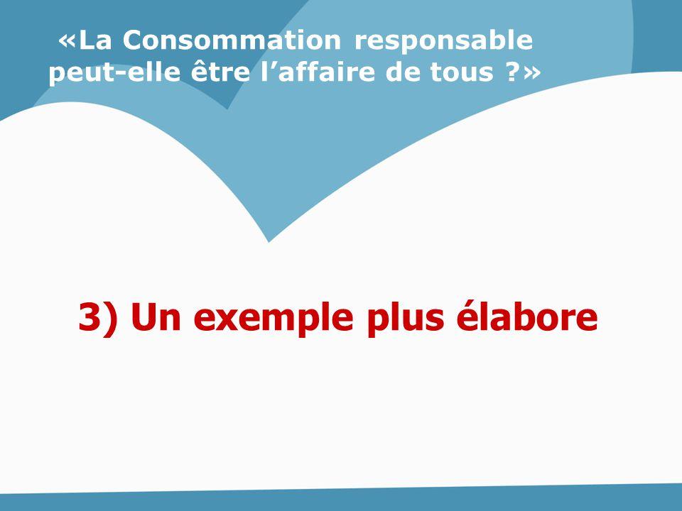 3) Un exemple plus élabore «La Consommation responsable peut-elle être l'affaire de tous ?»