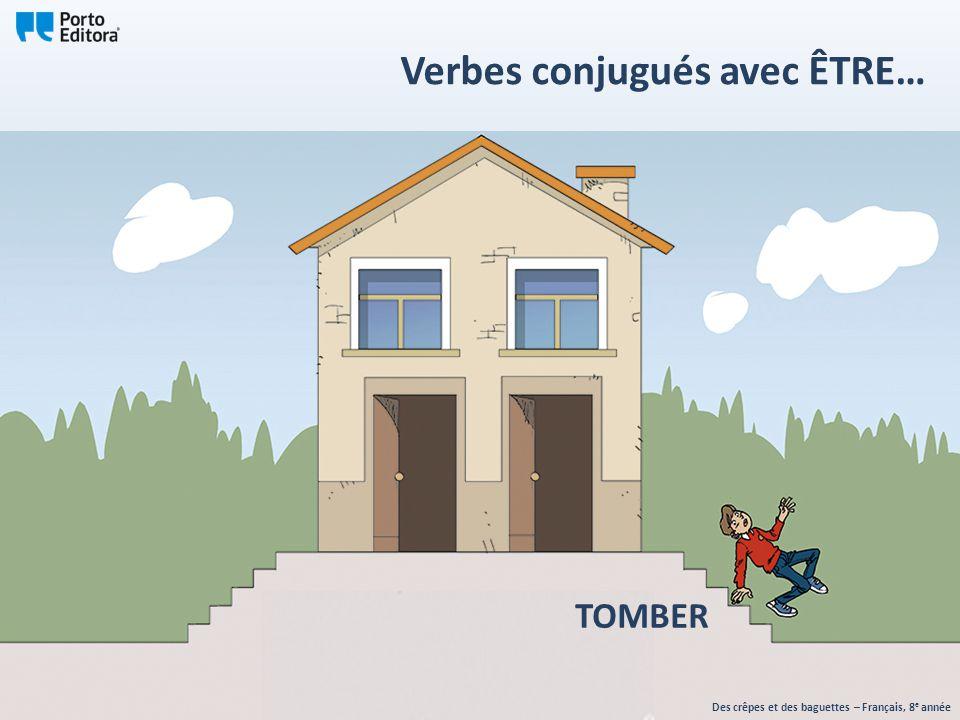 TOMBER Des crêpes et des baguettes – Français, 8 e année Verbes conjugués avec ÊTRE…