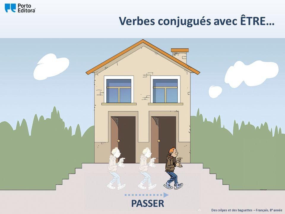 Des crêpes et des baguettes – Français, 8 e année Verbes conjugués avec ÊTRE… PASSER