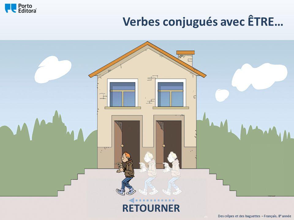Des crêpes et des baguettes – Français, 8 e année Verbes conjugués avec ÊTRE… RETOURNER