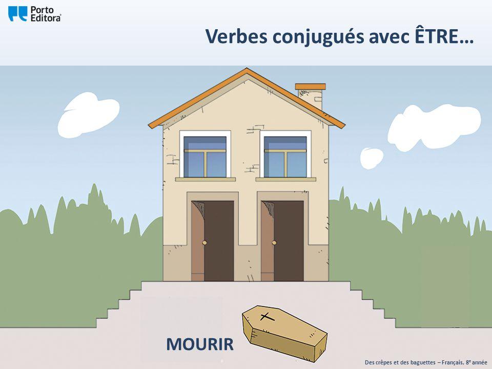 MOURIR Des crêpes et des baguettes – Français, 8 e année Verbes conjugués avec ÊTRE…
