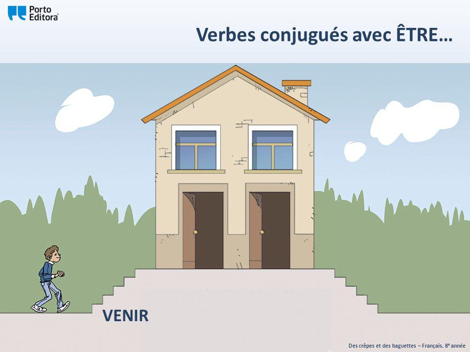 VENIR Des crêpes et des baguettes – Français, 8 e année Verbes conjugués avec ÊTRE…