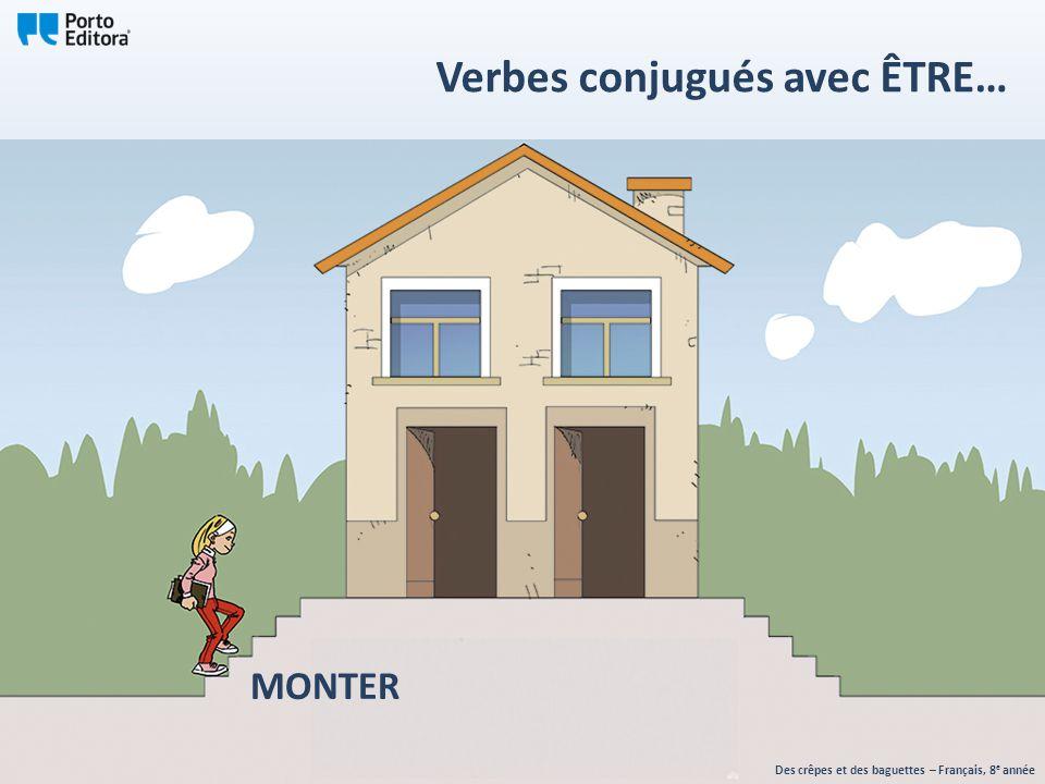 MONTER Des crêpes et des baguettes – Français, 8 e année Verbes conjugués avec ÊTRE…