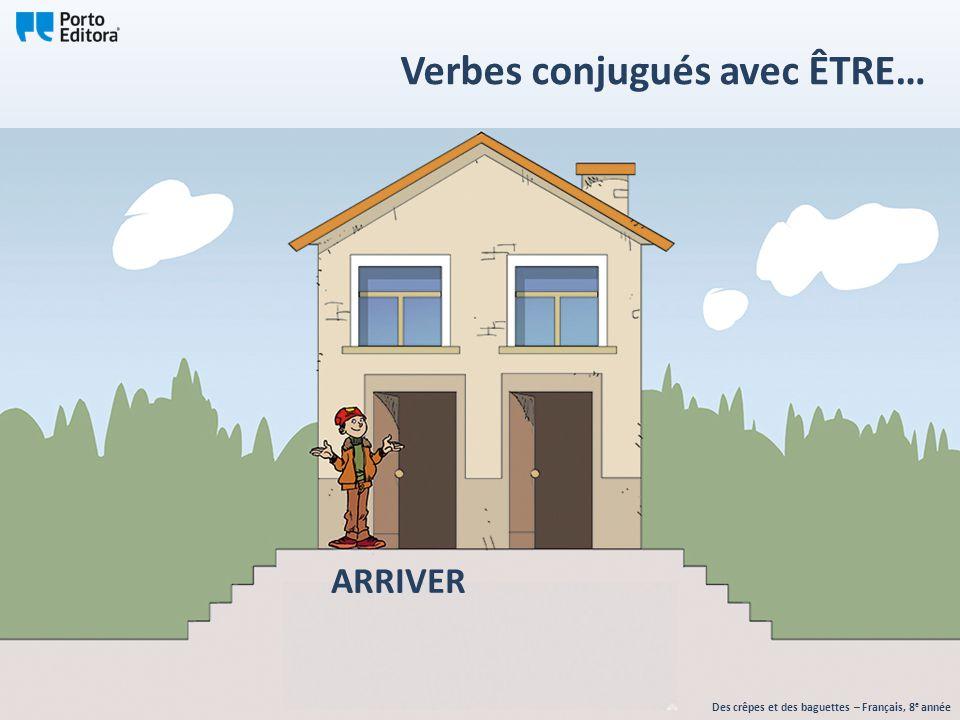 ARRIVER Des crêpes et des baguettes – Français, 8 e année Verbes conjugués avec ÊTRE…