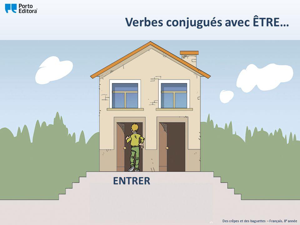 ENTRER Des crêpes et des baguettes – Français, 8 e année Verbes conjugués avec ÊTRE…