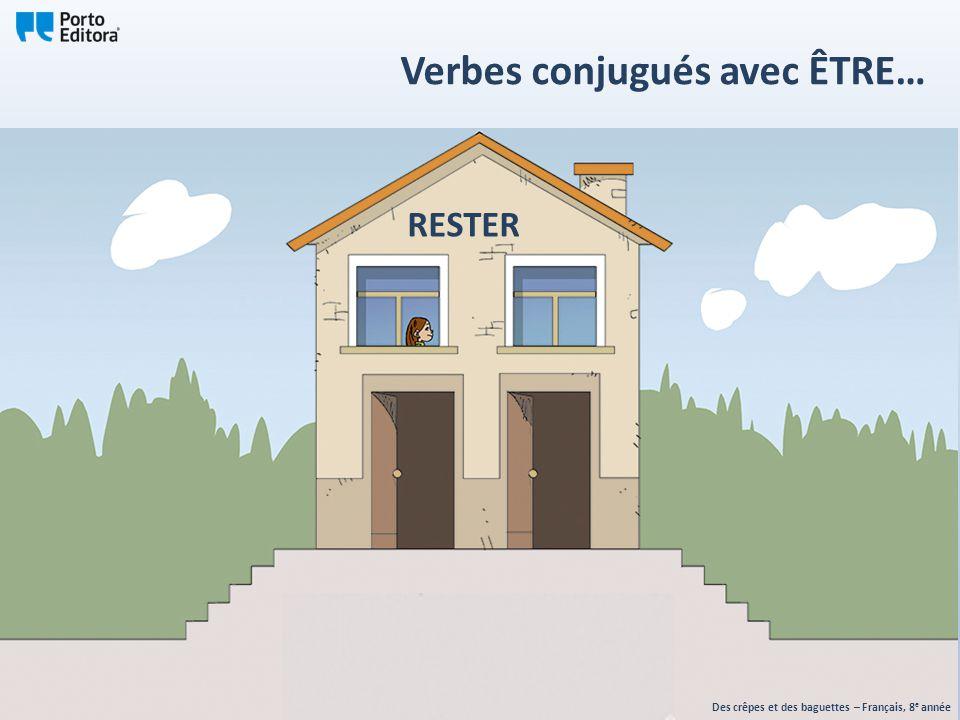 RESTER Des crêpes et des baguettes – Français, 8 e année Verbes conjugués avec ÊTRE…