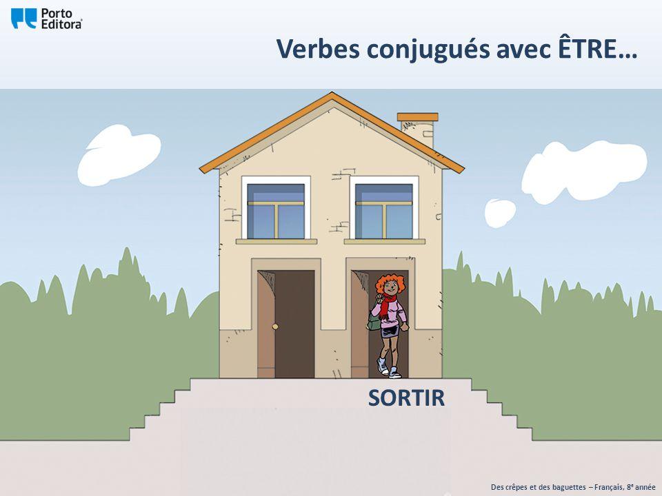 SORTIR Des crêpes et des baguettes – Français, 8 e année Verbes conjugués avec ÊTRE…