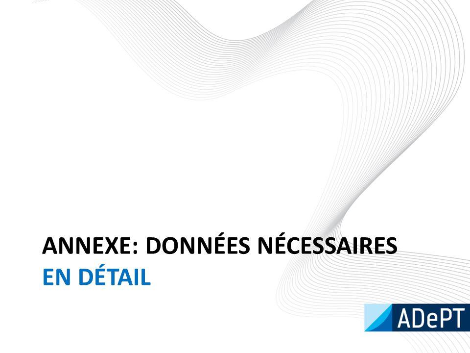 ANNEXE: DONNÉES NÉCESSAIRES EN DÉTAIL