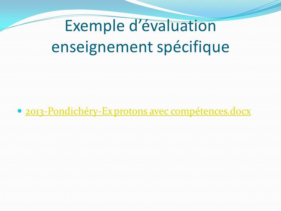 Exemple d'évaluation enseignement spécifique 2013-Pondichéry-Ex protons avec compétences.docx