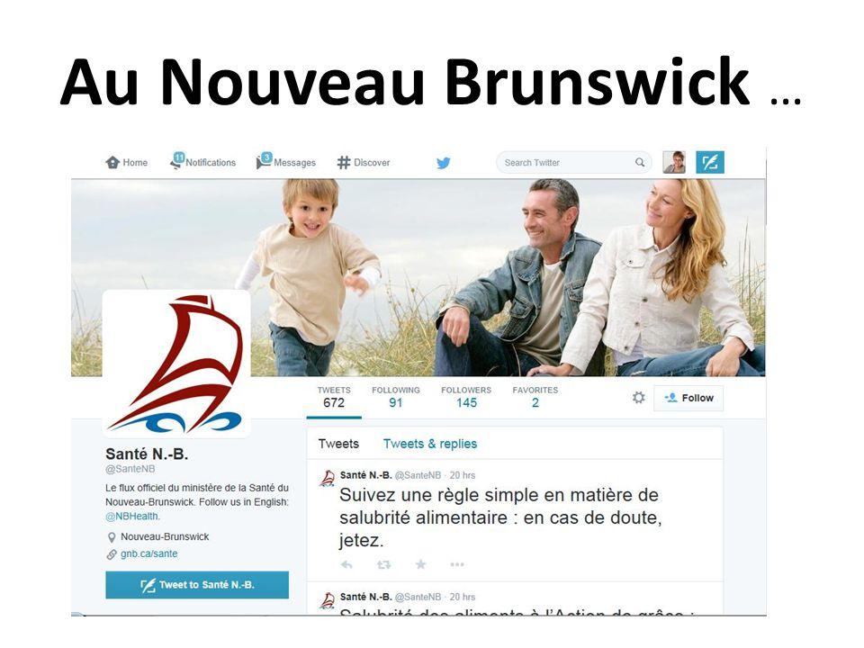 Au Nouveau Brunswick …