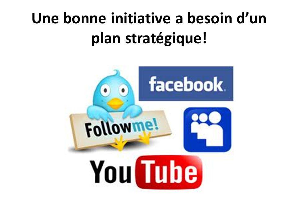 Une bonne initiative a besoin d'un plan stratégique!