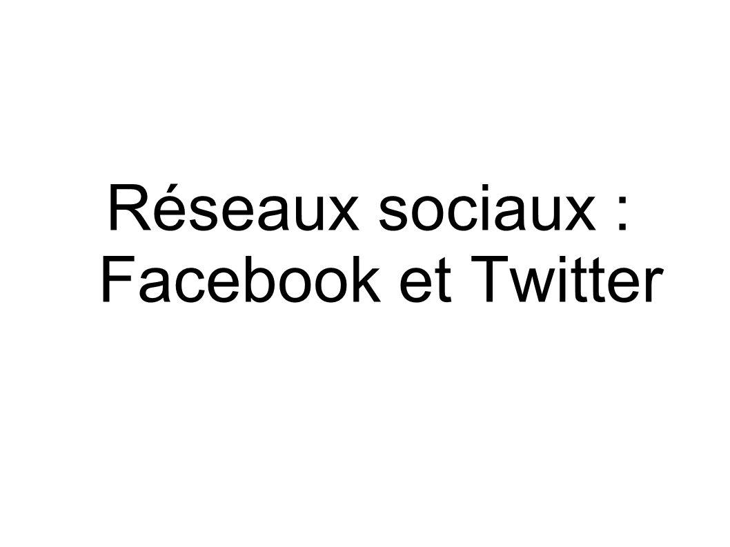 Réseaux sociaux : Facebook et Twitter
