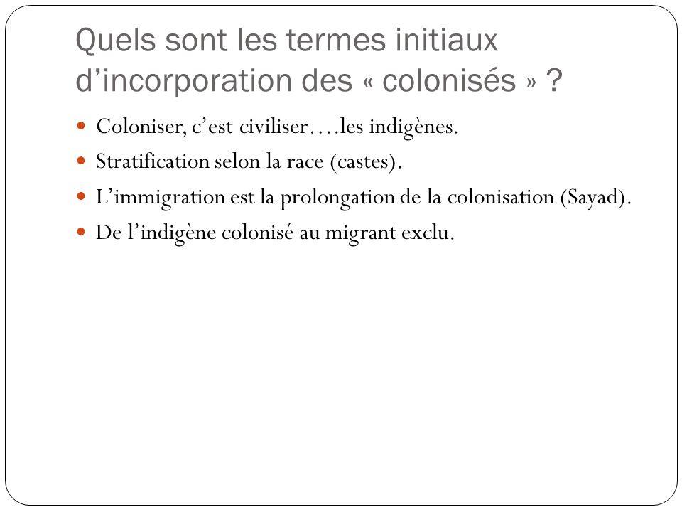 L'application de la théorie de Ogbu sur les difficultés d'intégration des flux migratoires d'origine coloniale ou post-coloniale Fécondité de l'approc