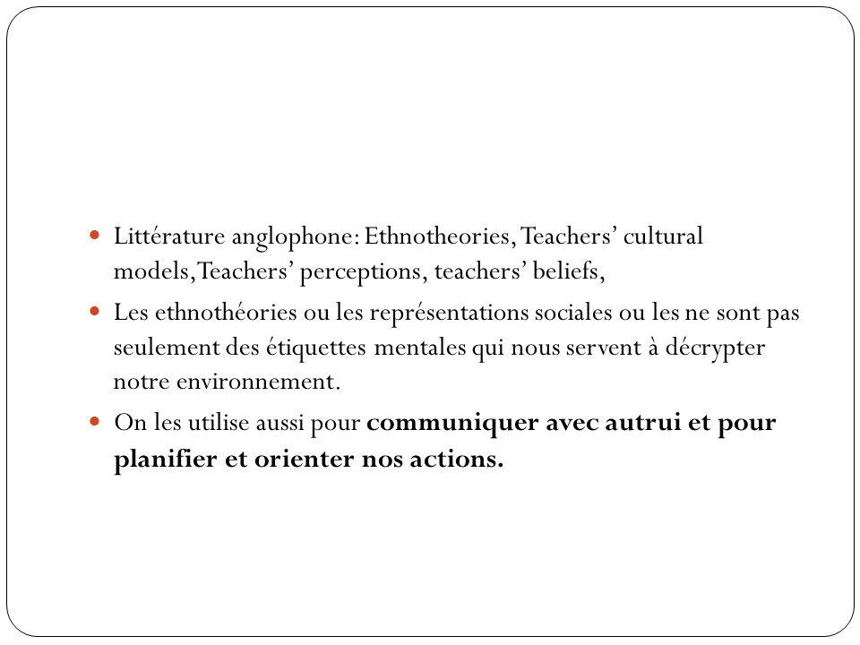 3.3 Ethnothéories Recherche longitudinale sur les ethnothéories des enseignants (États-unis, Suisse) Proximité conceptuelle entre habitus, ethnothéori