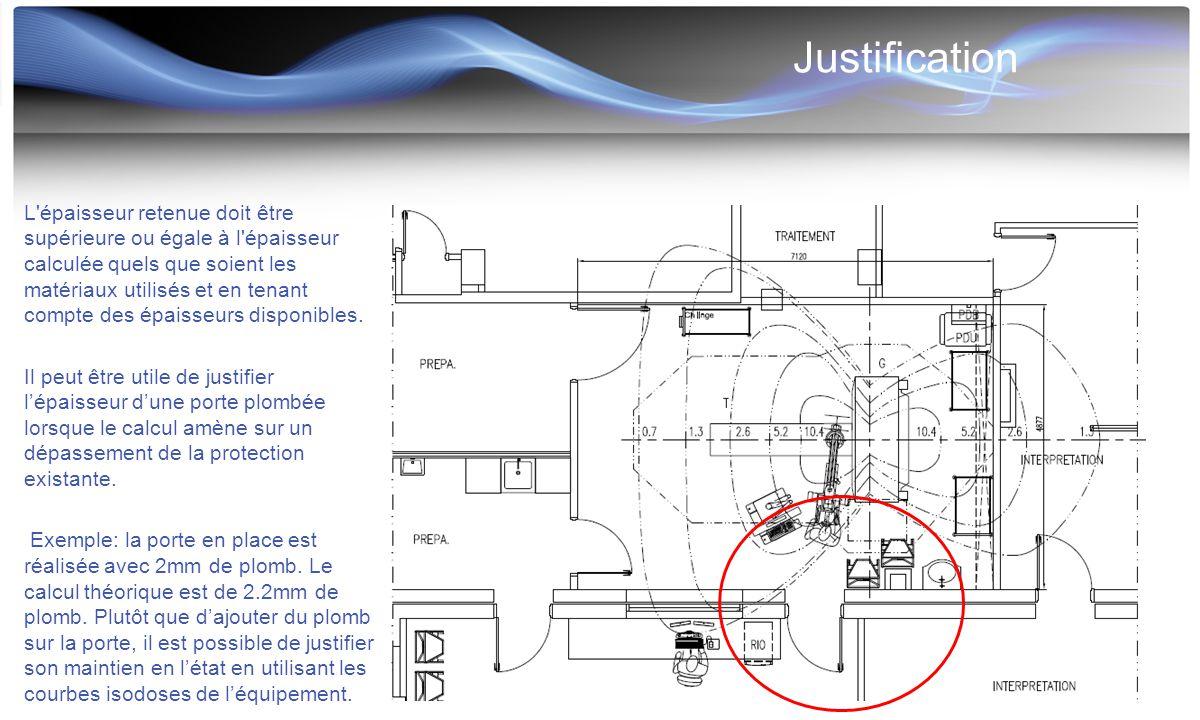 Justification L'épaisseur retenue doit être supérieure ou égale à l'épaisseur calculée quels que soient les matériaux utilisés et en tenant compte des