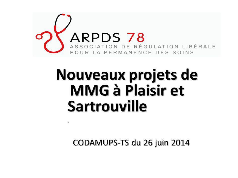 Nouveaux projets de MMG à Plaisir et Sartrouville Nouveaux projets de MMG à Plaisir et Sartrouville CODAMUPS-TS du 26 juin 2014 CODAMUPS-TS du 26 juin