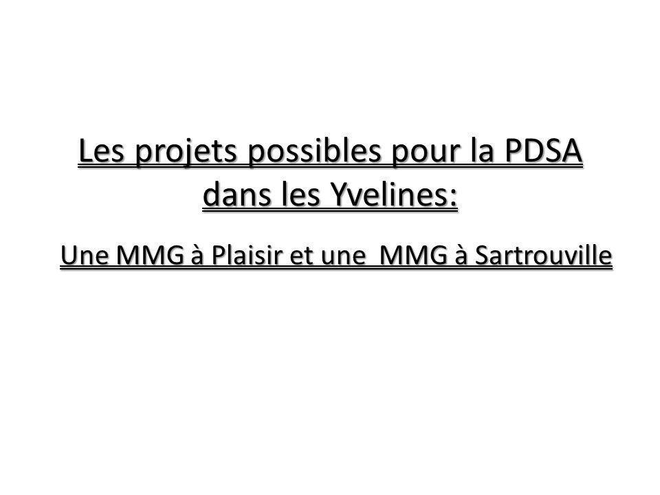 Les projets possibles pour la PDSA dans les Yvelines: Une MMG à Plaisir et une MMG à Sartrouville