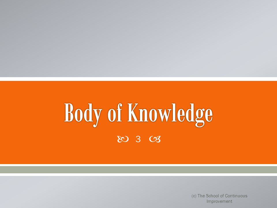 1.Vue d'ensemble 2.Définir 3.Mesure 4.Analyser 5.Améliorer 6.Contrôle (c) The School of Continuous Improvement 4
