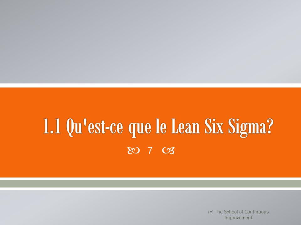 Lean Six Sigma est une fusion de deux philosophies puissants - Lean et Six Sigma.