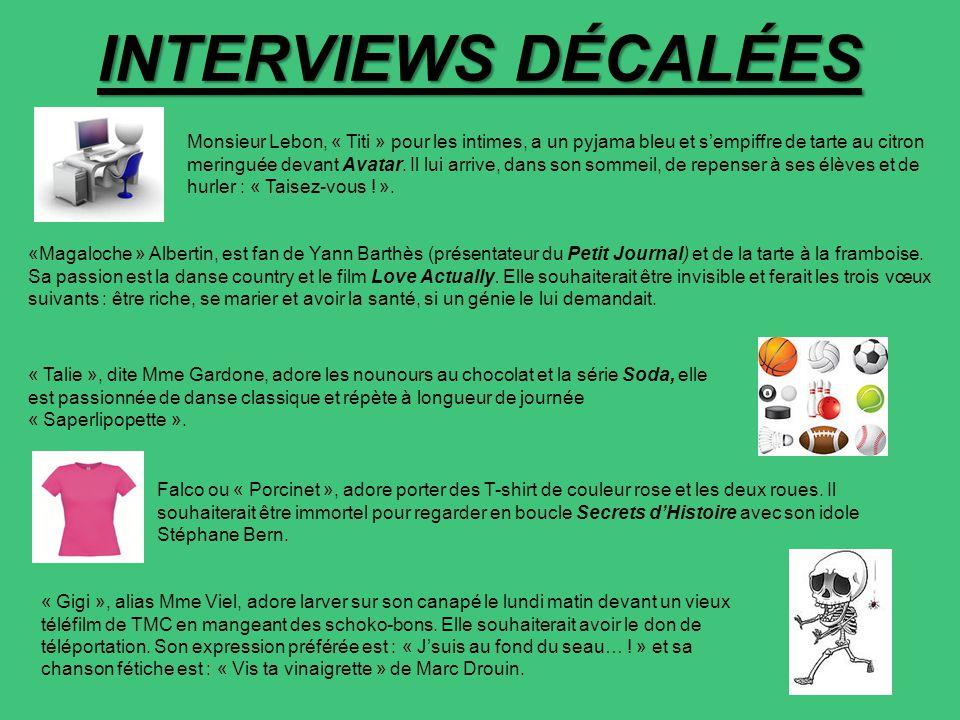 INTERVIEWS DÉCALÉES Monsieur Lebon, « Titi » pour les intimes, a un pyjama bleu et s'empiffre de tarte au citron meringuée devant Avatar. Il lui arriv