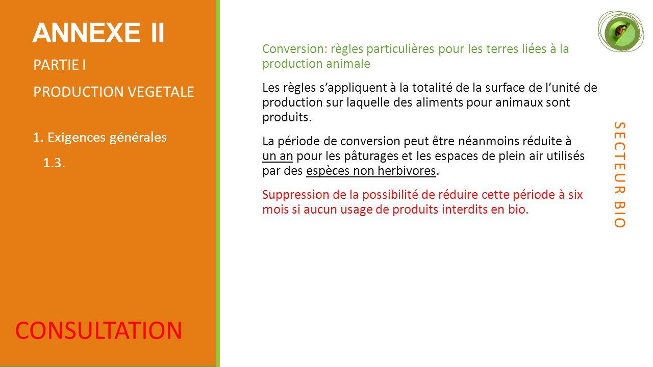 Conversion: règles particulières pour les terres liées à la production animale Les règles s'appliquent à la totalité de la surface de l'unité de production sur laquelle des aliments pour animaux sont produits.