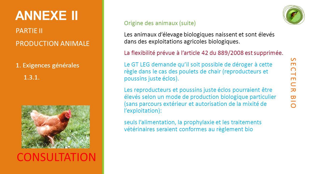 Origine des animaux (suite) Les animaux d'élevage biologiques naissent et sont élevés dans des exploitations agricoles biologiques.