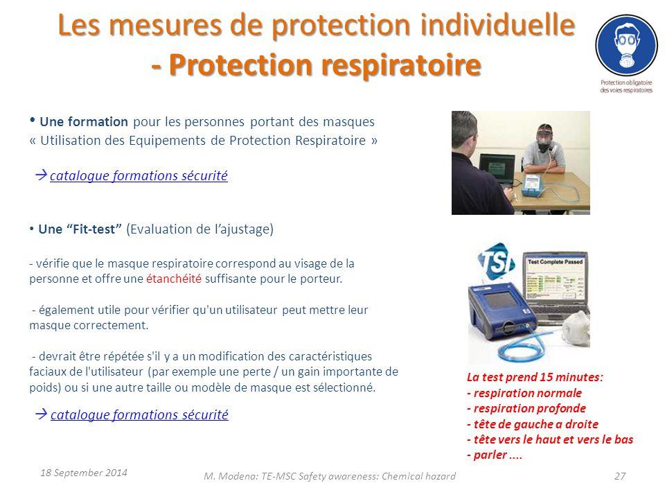 Une formation pour les personnes portant des masques « Utilisation des Equipements de Protection Respiratoire »  catalogue formations sécuritécatalog