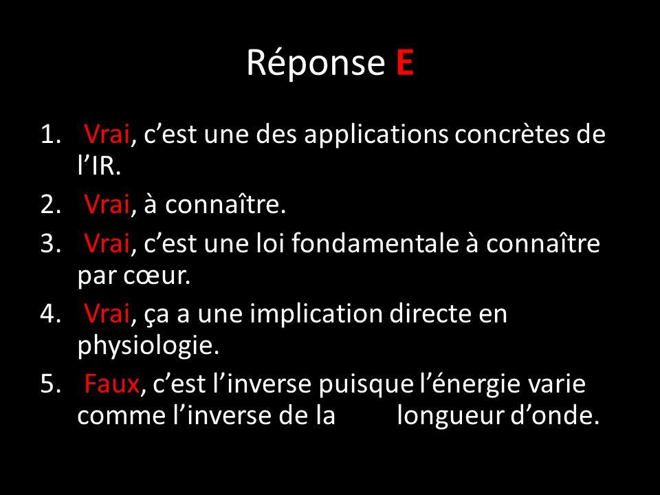 Réponse E 1. Vrai, c'est une des applications concrètes de l'IR.