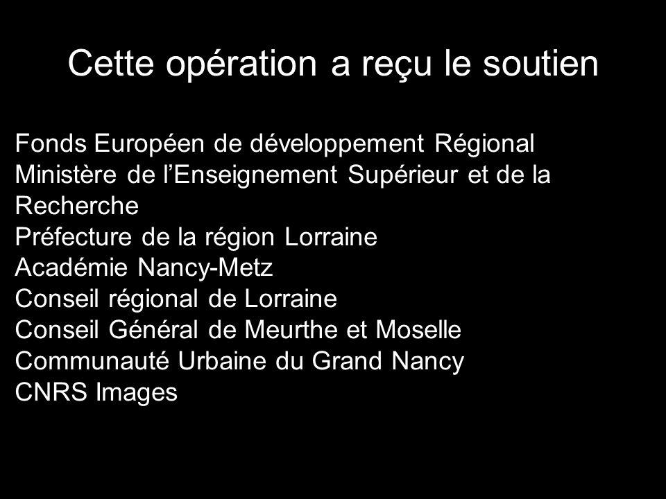 Cette opération a reçu le soutien Fonds Européen de développement Régional Ministère de l'Enseignement Supérieur et de la Recherche Préfecture de la r